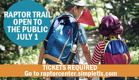 Raptor Trail is OPEN weekly Wednesday - Sunday.